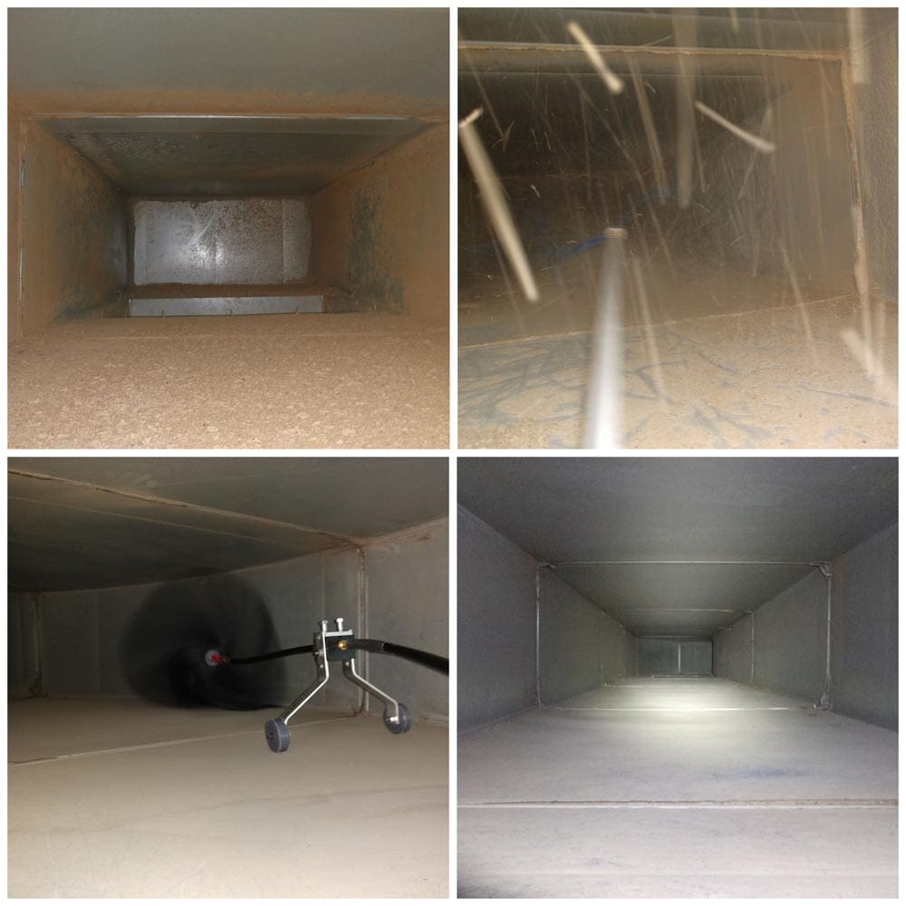 Commercial Duct Cleaning Air Whip and Mechanical Brush