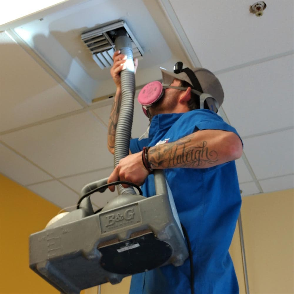 Commercial Duct Cleaning Anti Microbial Application