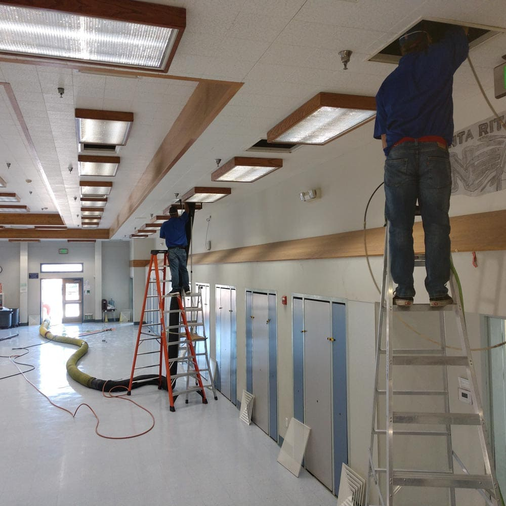 Commercial Duct Cleaning Gymnasium Dual Technicians