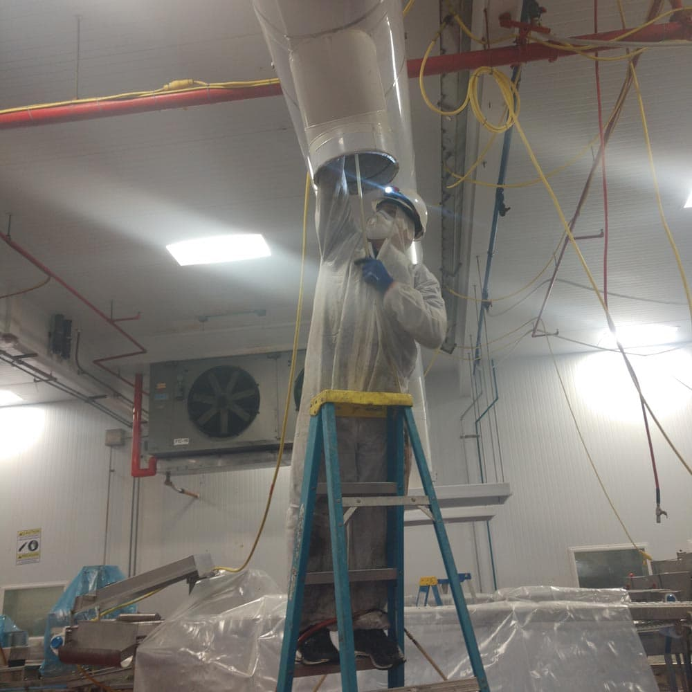 Commercial Duct Cleaning NADCA Certified Technician Taylor Farms