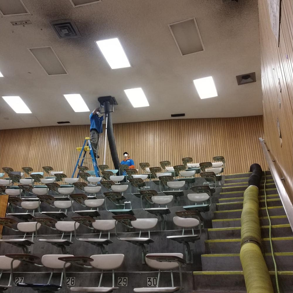 Commercial Duct Cleaning NADCA College Auditorium