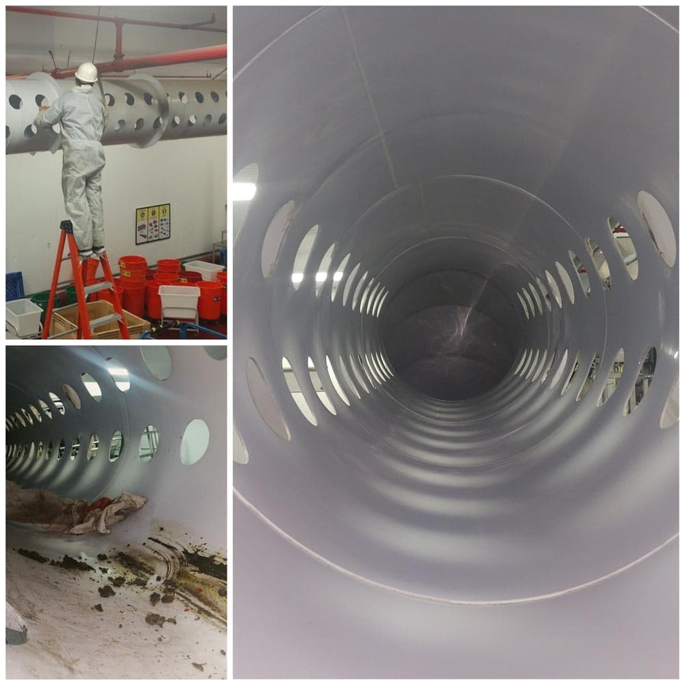 Commercial Duct Cleaning NADCA Taylor Farms Exhaust System