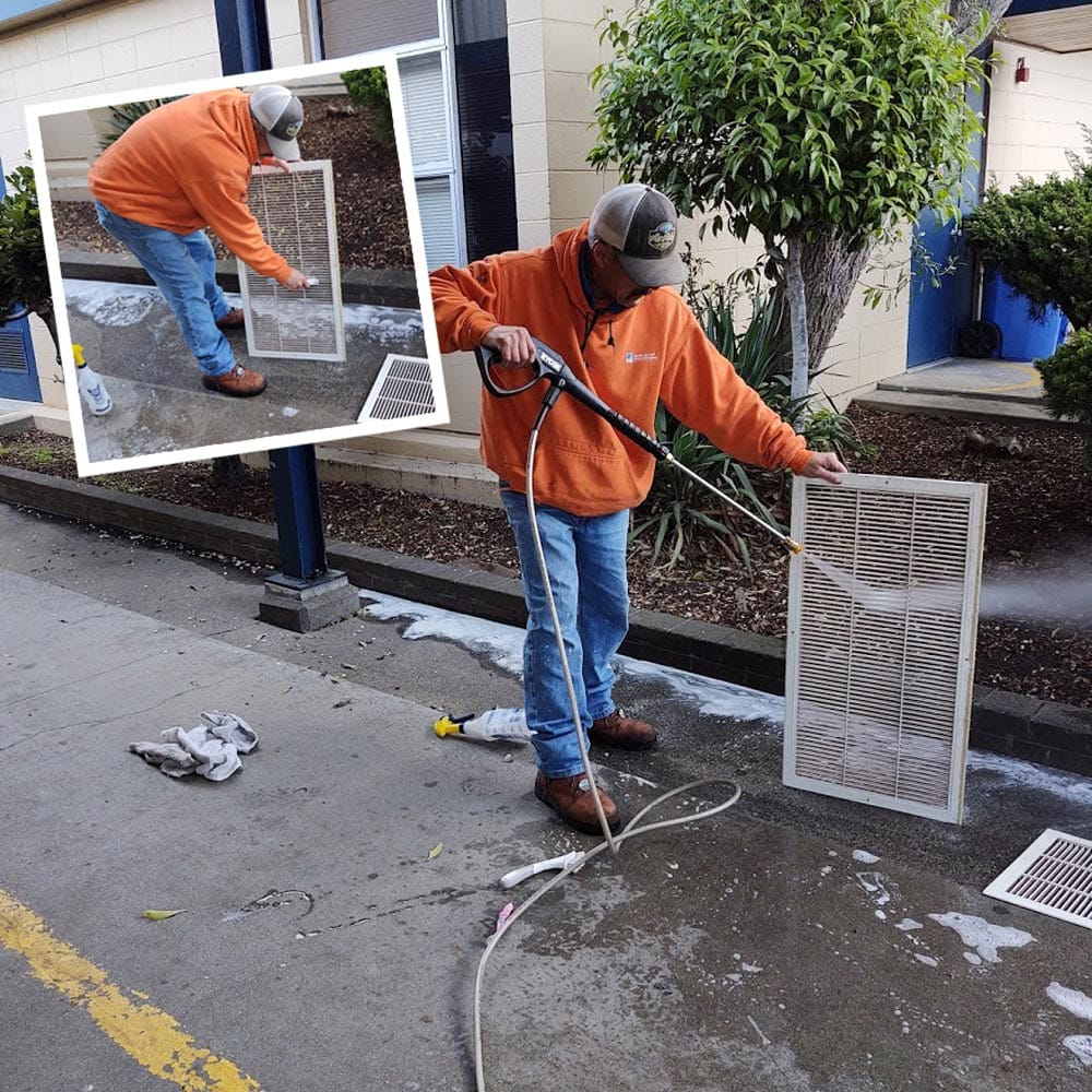 Commercial Duct Cleaning Return Grille