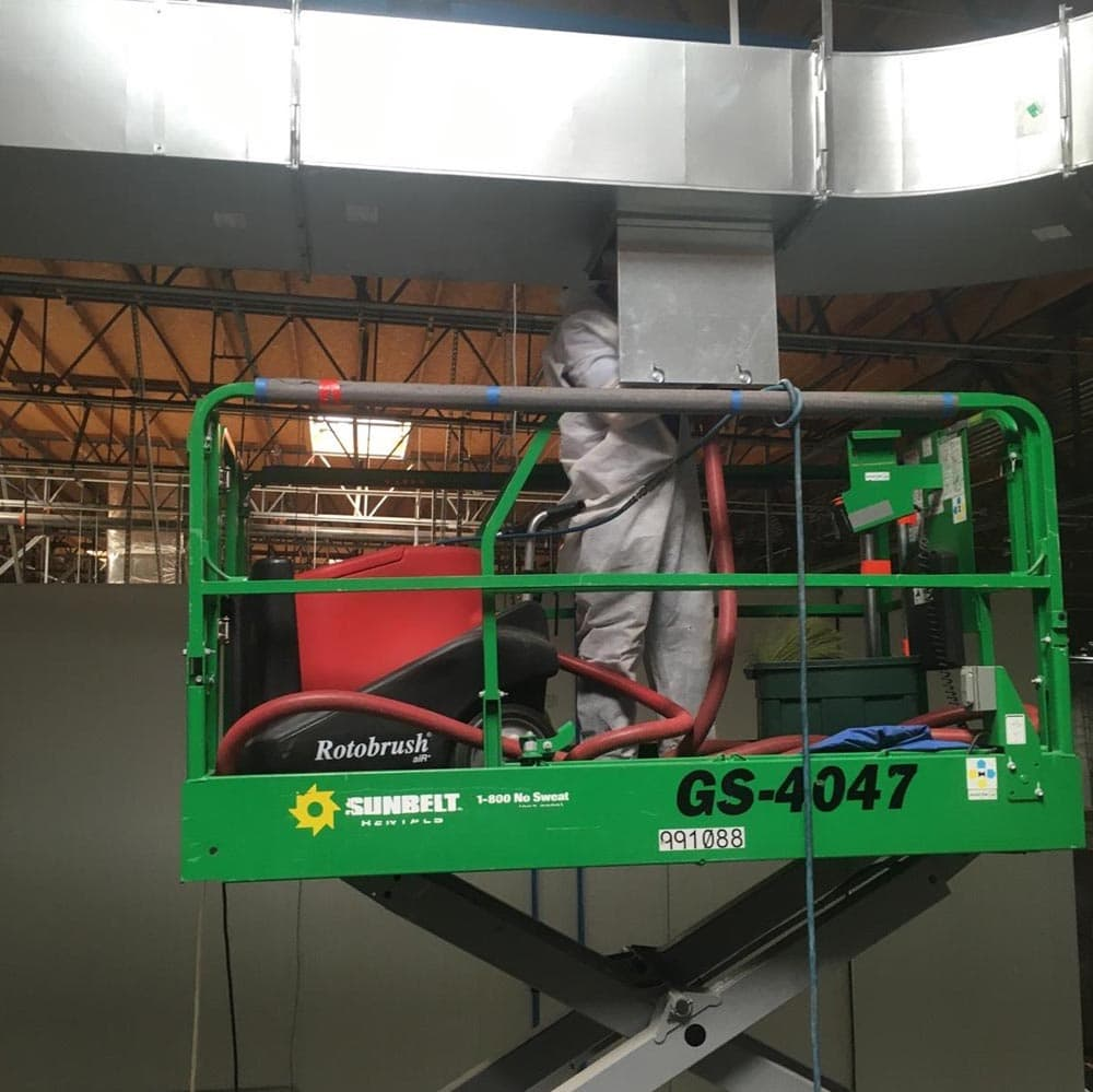 Commercial Duct Cleaning Scissor Lift