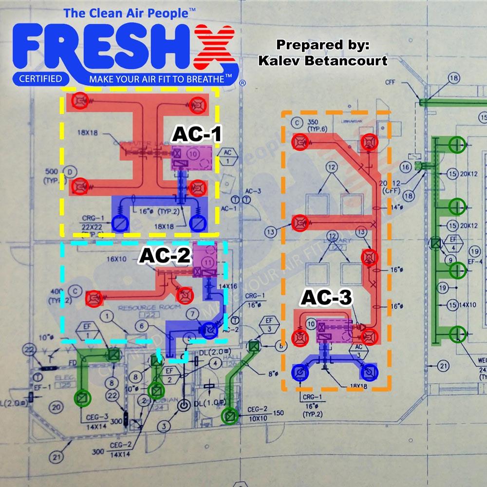 Commercial FreshX Mechanical Blueprints Building Salinas