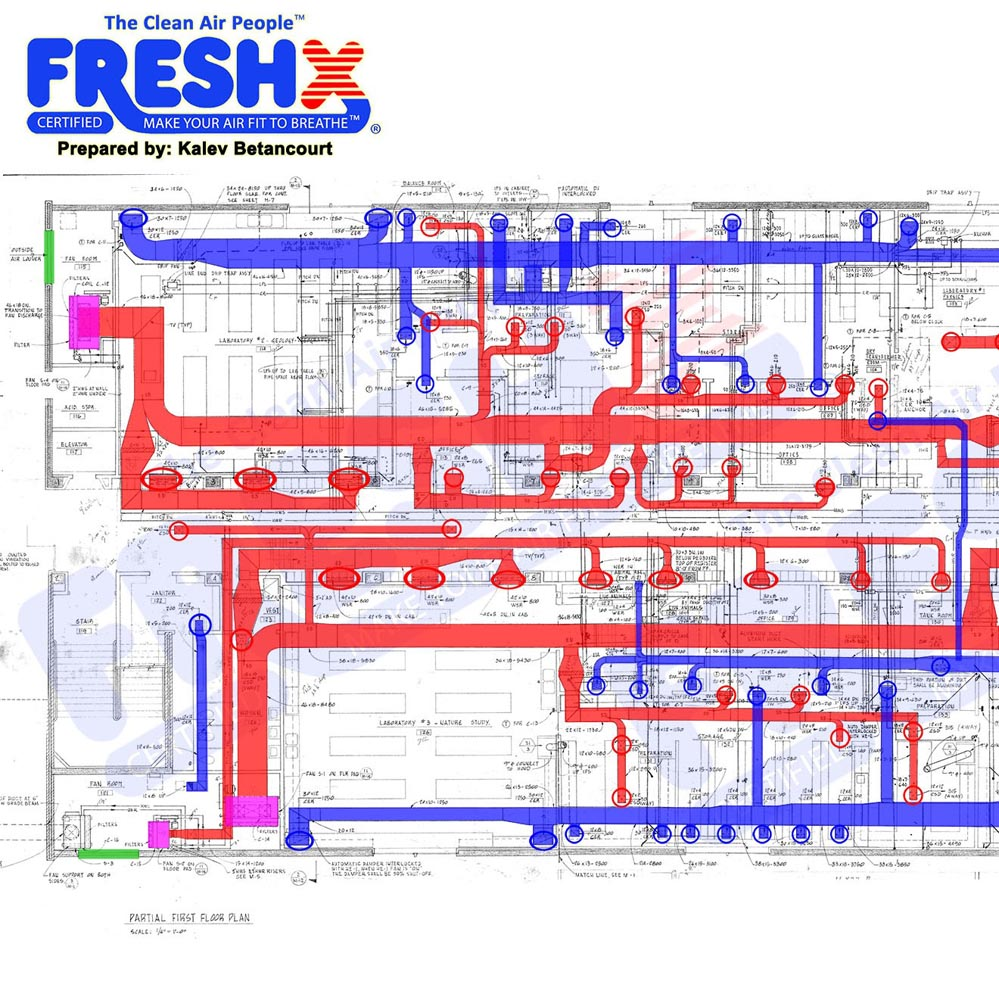 Commercial FreshX Mechanical Blueprints College