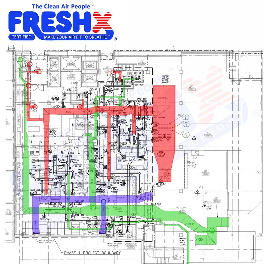 Commercial FreshX Mechanical Blueprints Davis
