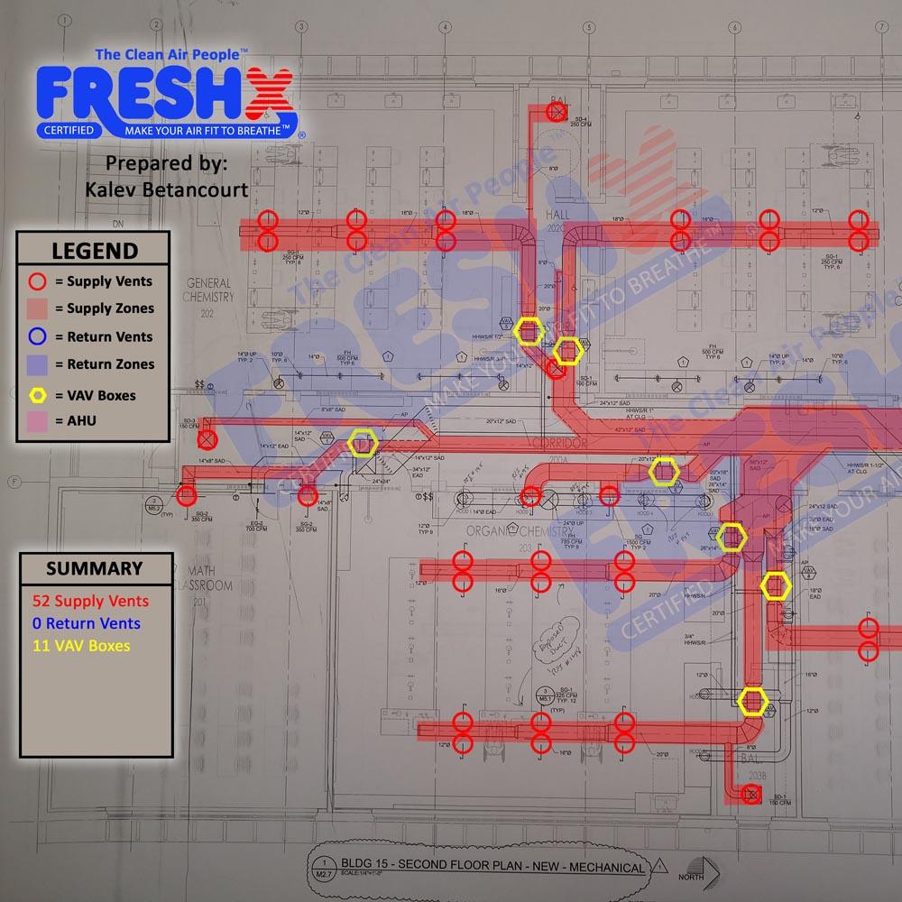 Commercial FreshX Mechanical Blueprints Monterey