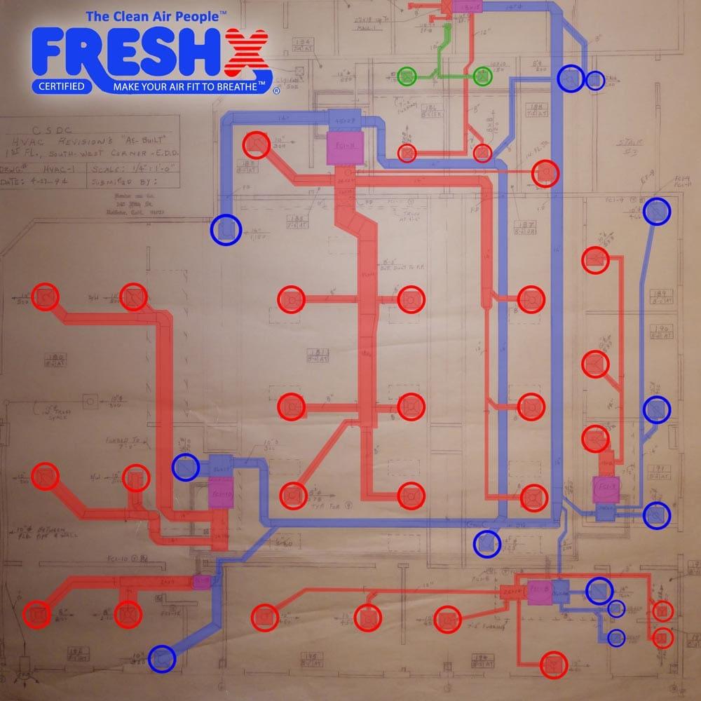 Commercial FreshX Mechanical Blueprints Salinas