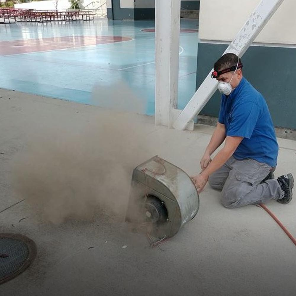 Commercial HVAC Units Blower Fan Cleaning