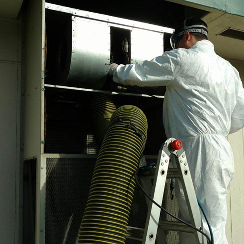 Commercial HVAC Units Cleaning Blower Fan