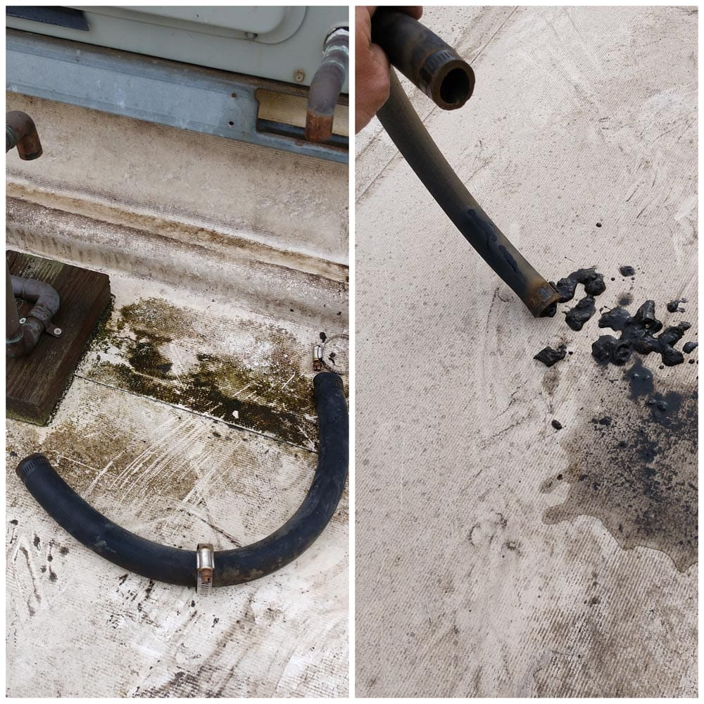 Commercial HVAC Units Drain Line Cleaning