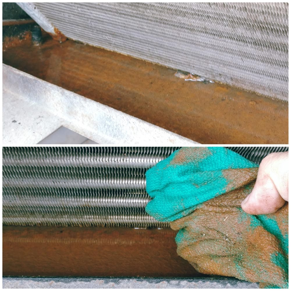 Commercial HVAC Units Drain Pan Cleaning