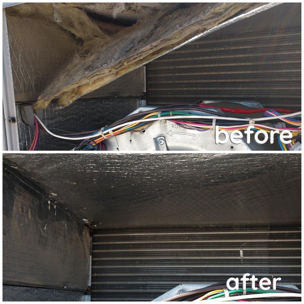 Commercial HVAC Units Fallen Insulation