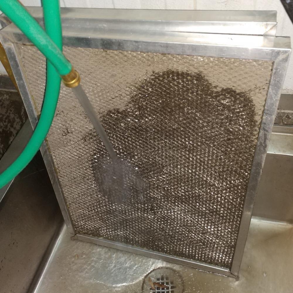 Commercial HVAC Units Fresh Air Filter Washing