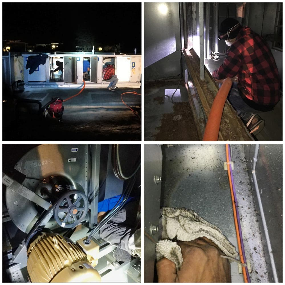 Commercial HVAC Units Graveyard Shift Cleaning
