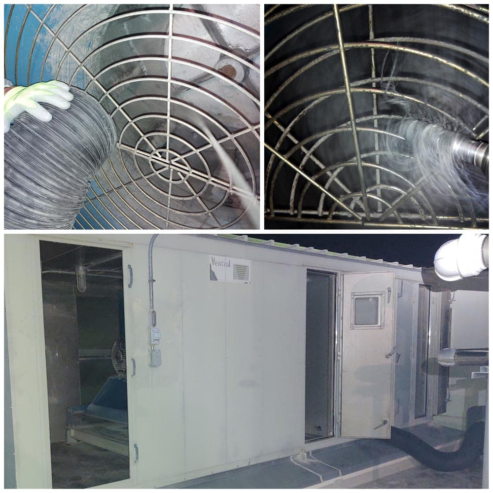 Commercial HVAC Units Hospital Exhaust Fan Cleaning
