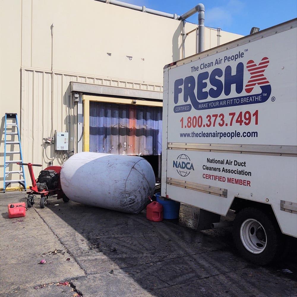 Commercial Setup Negative Air Machine