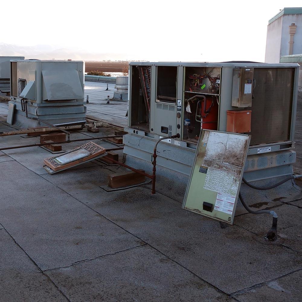 Commercial Setup Air Handler Unit Access