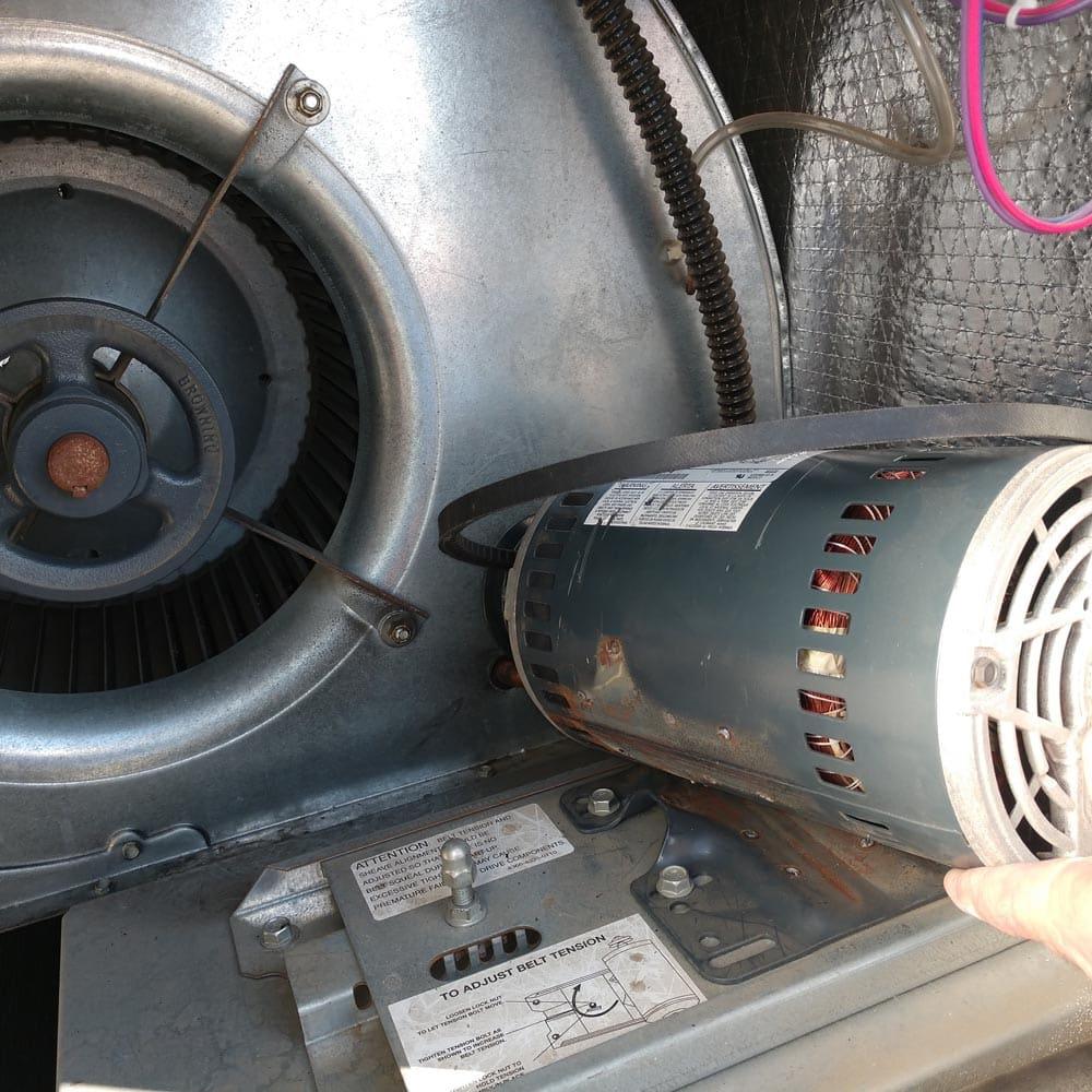 Commercial Ventilation Inspections Blower Motor Broken