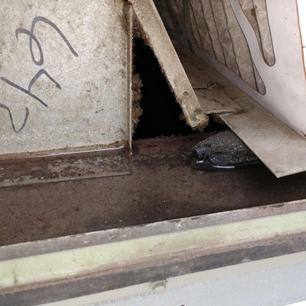 Commercial Ventilation Inspections Drain Pan Clogged