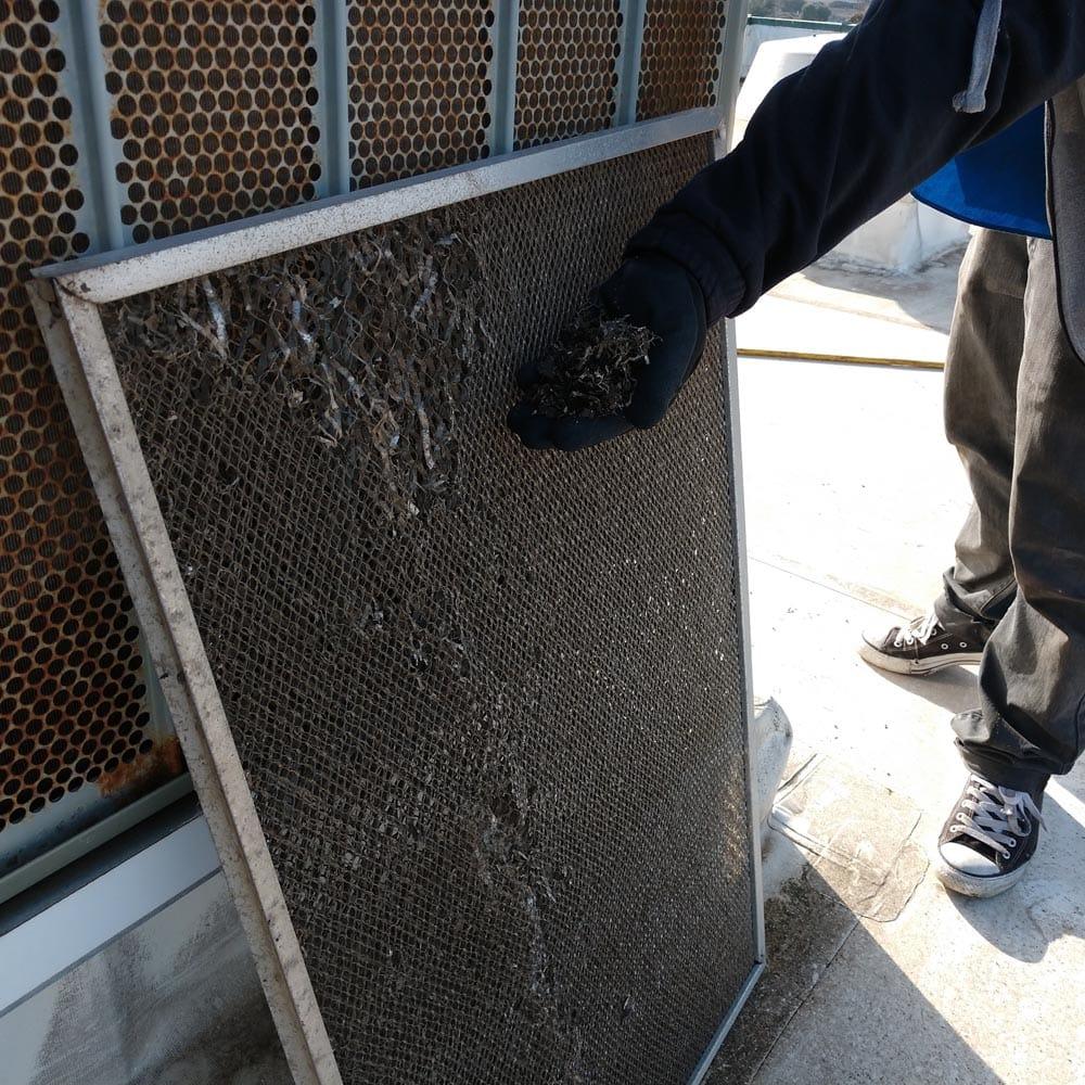 Commercial Ventilation Inspections Fresh Air Intake Filter Broken