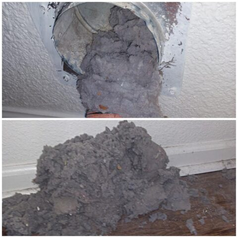 Dryer Vent Cleaning Clumps of Lint
