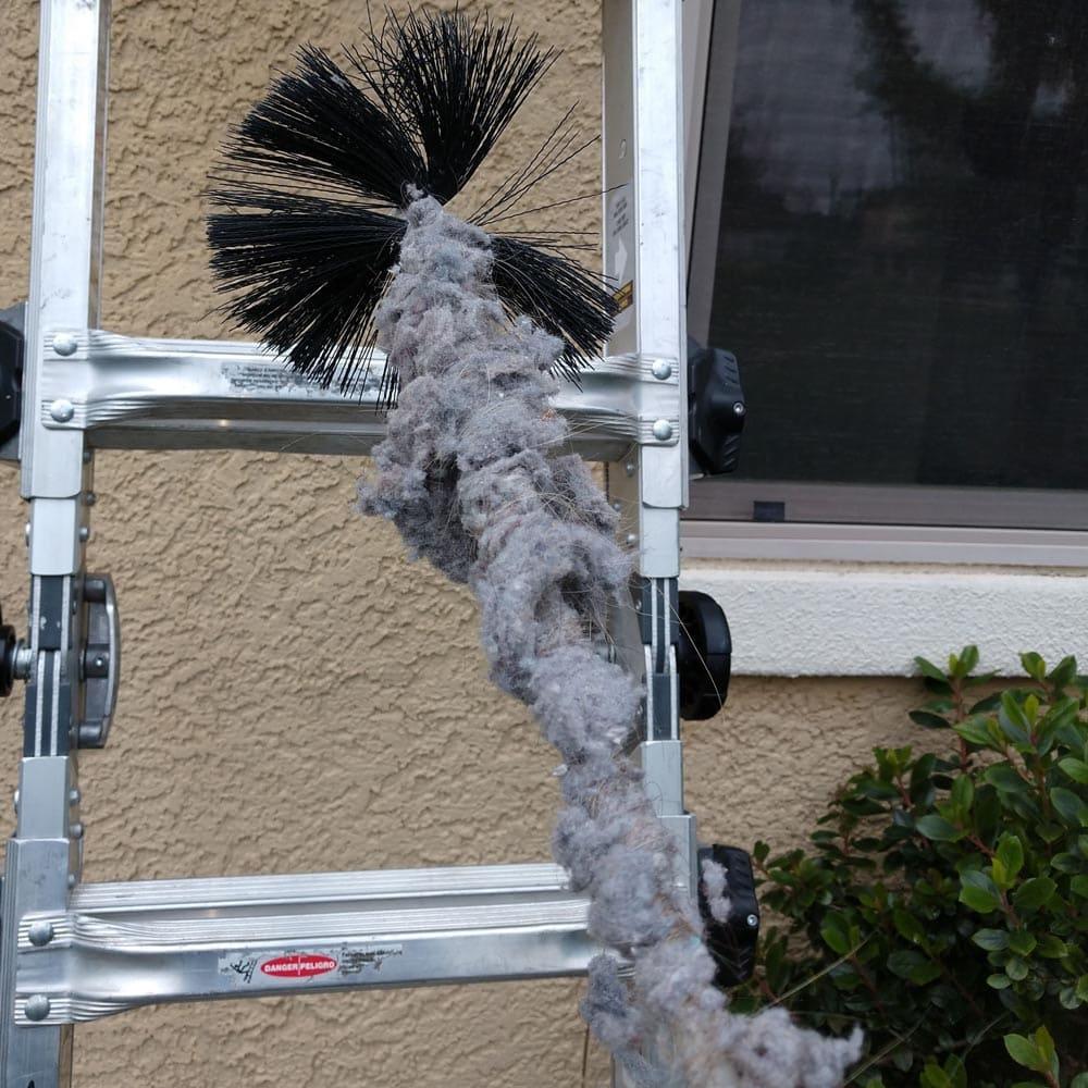 Dryer Vent Cleaning Mechanical Brush Hair