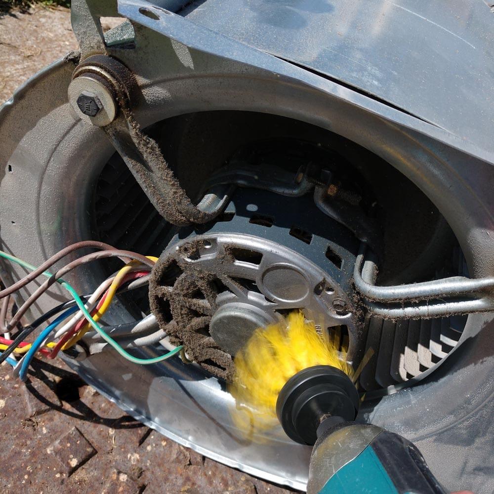 Residential Blower Fan Mechanical Brush Cleaning Motor