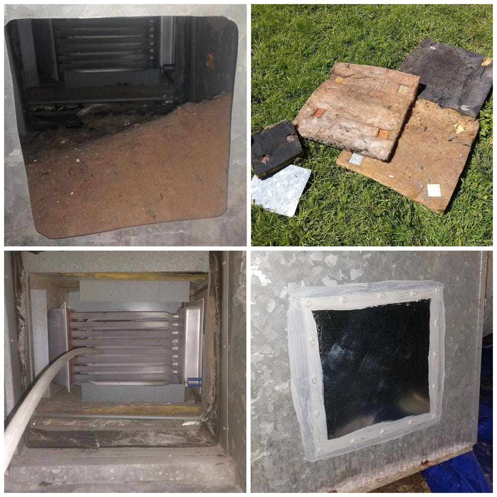 Residential Duct Cleaning Access Hole Supply Plenum