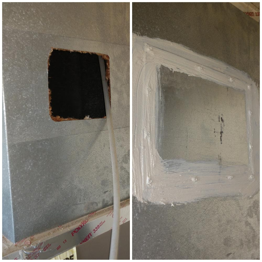 Residential Duct Cleaning Access Hole Trunk Line