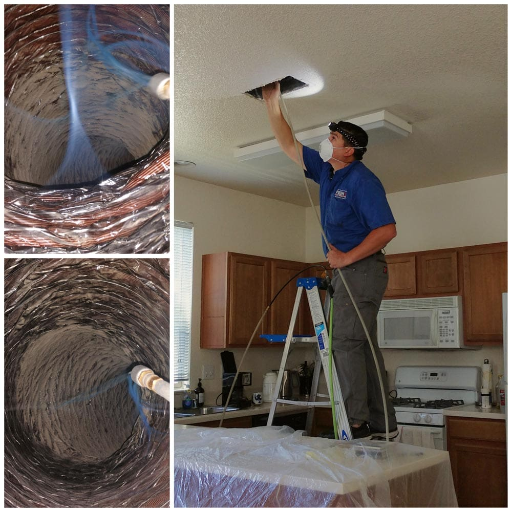 Residential Duct Cleaning Air Whip in Action