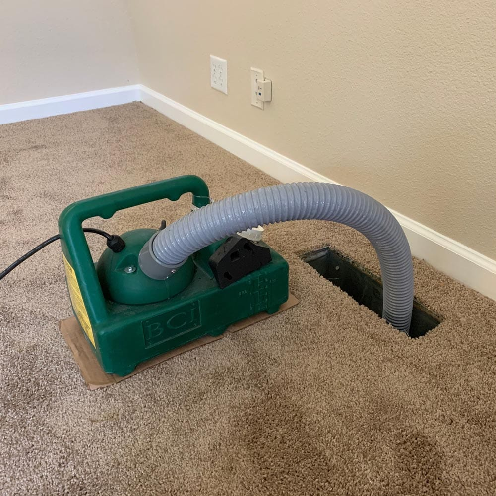 Residential Duct Cleaning Anti Microbial Application