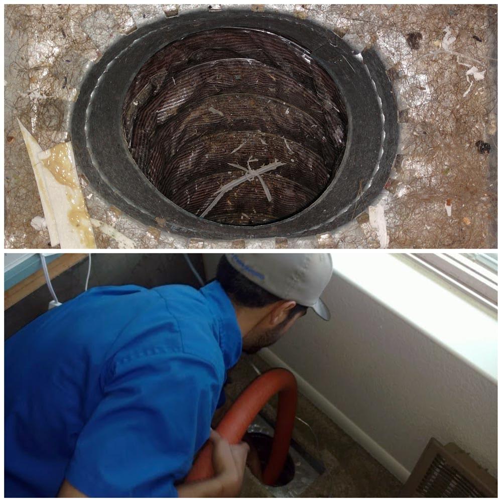 Residential Duct Cleaning Pre Vacuum Debris