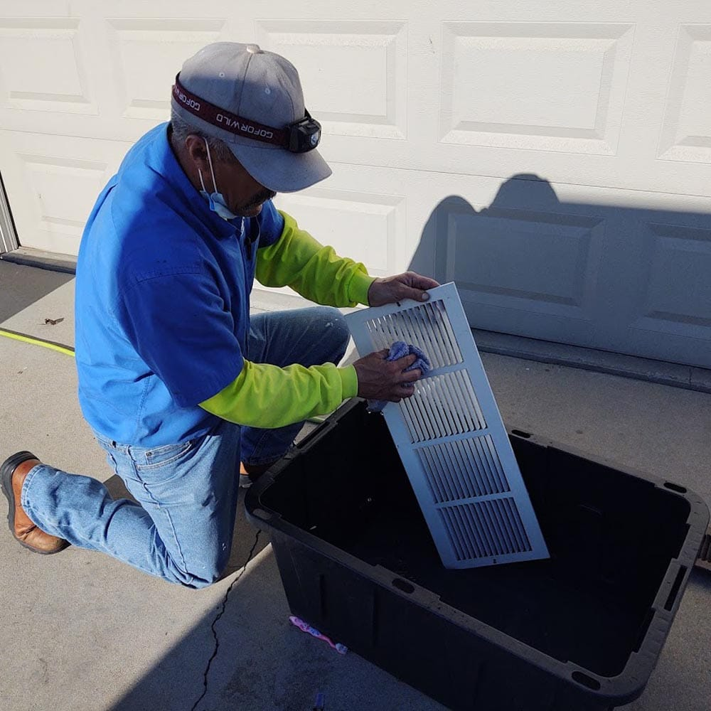 Residential Duct Cleaning Return Grille Washing
