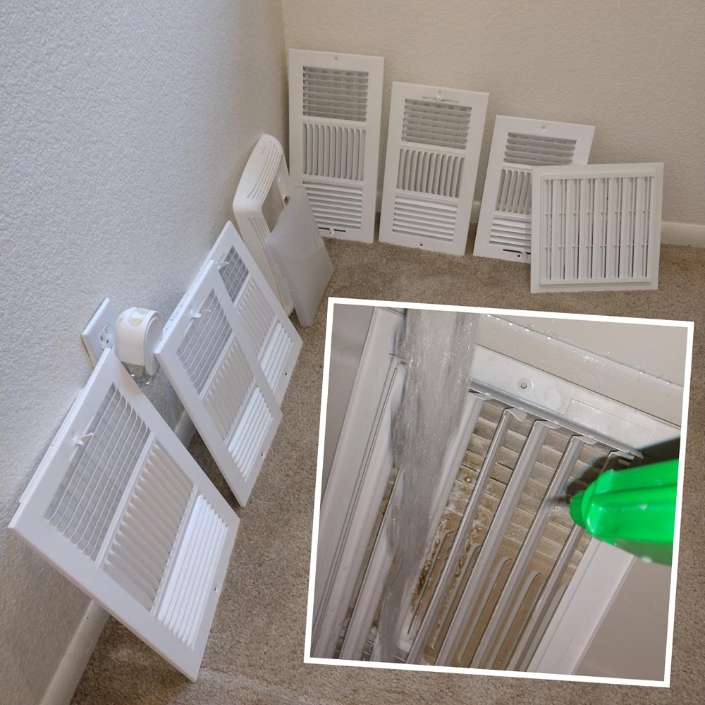 Residential Duct Cleaning Supply Register Washing