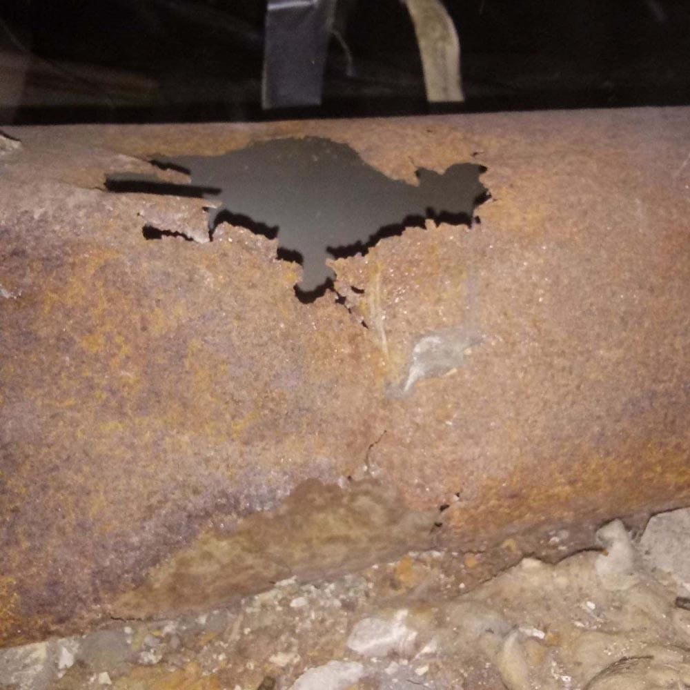 Residential Duct Repair Corroded Ductwork