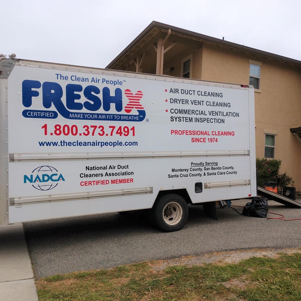 Residential Setup Box Truck Filled with Equipment