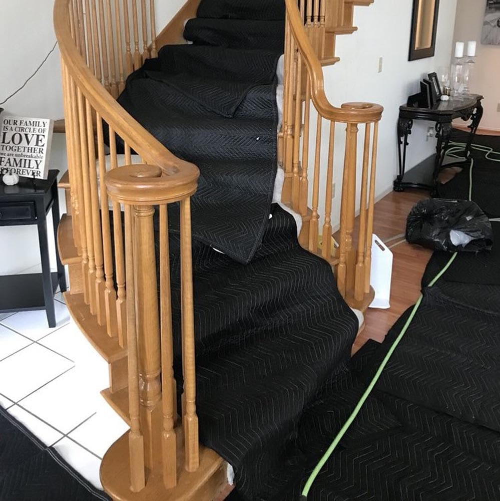 Residential Setup Drop Cloths