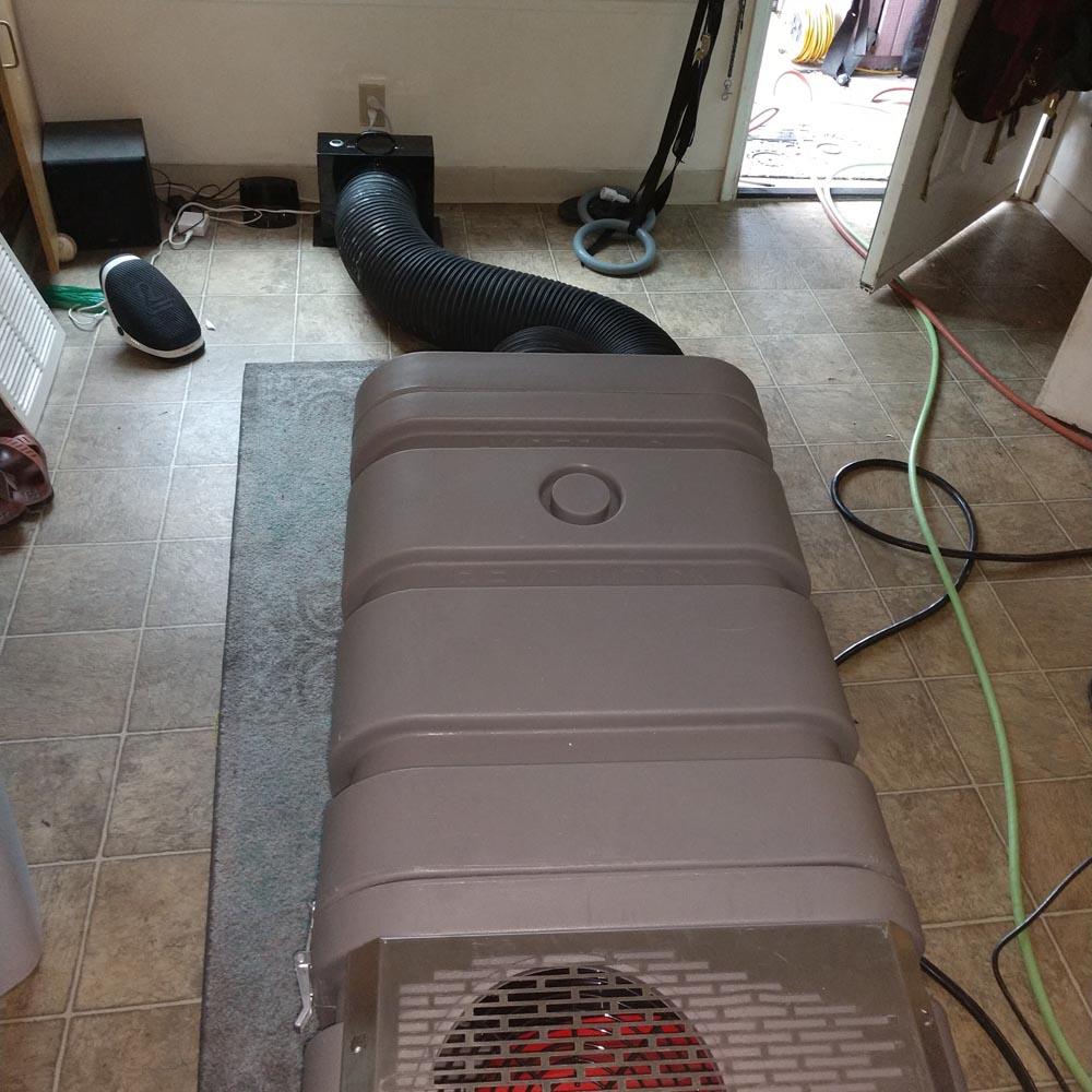 Residential Setup Hypervac 220v Negative Air Machine