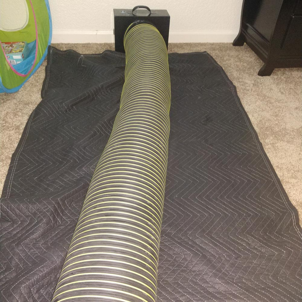 Residential Setup Negative Air Hose Floor Vent Adapter