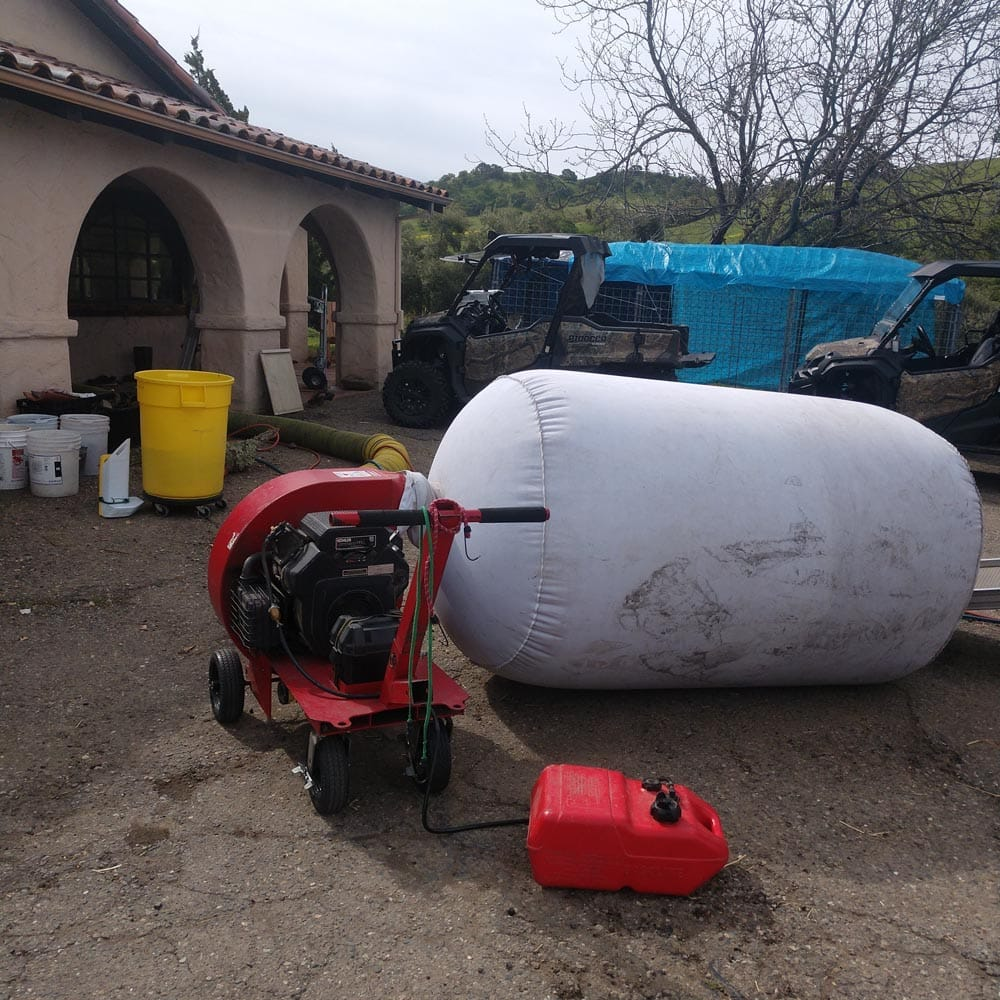 Residential Setup Nikro 20HP Negative Air Machine