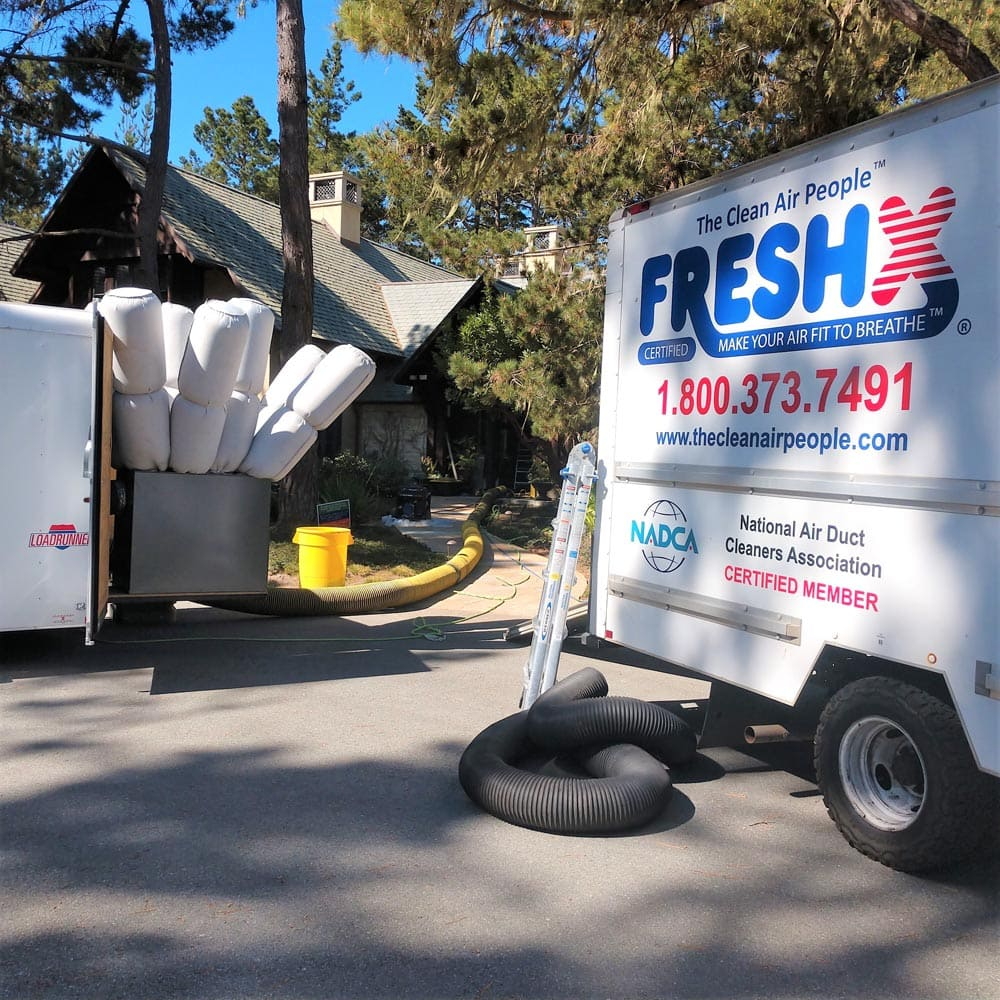 Residential Setup Truck and Trailer Negative Air Machine